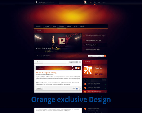 Orange eSport Design