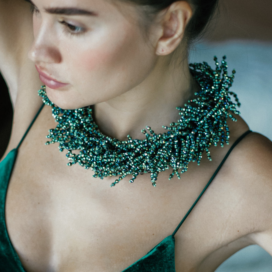 Green Agate Necklace | Jomaro Jewelry
