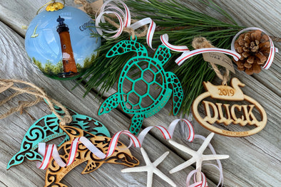 A Tree Trimmed with Treasures | Outer Banks Ornaments