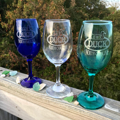 DUCK NC WINE GLASS