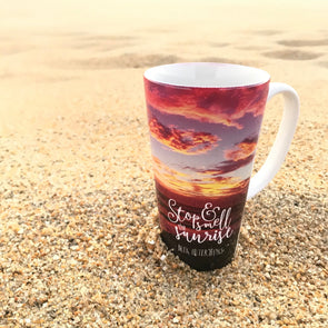 STOP & SMELL THE SUNRISE LATTE CUP