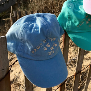 PAWS IN THE SAND OBX BALL CAP
