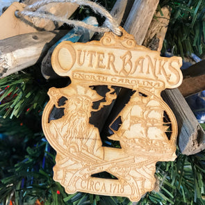 OBX PIRATE CHRISTMAS ORNAMENT