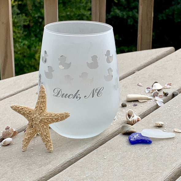 DUCK NC FROSTED BARWARE | Stemless Wine Glass Duck NC