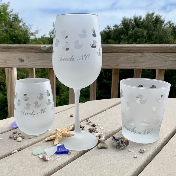 DUCK NC FROSTED BARWARE | A Beach Treasures in Duck Exclusive