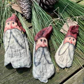 Oyster Shell Santa Claus Ornaments