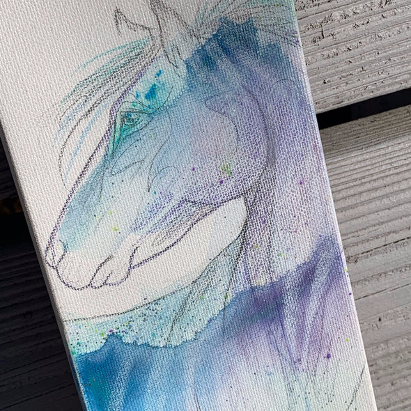Tiny Horse, a Mixed Medium Watercolor by Diane Luke | Outer Banks Artisans