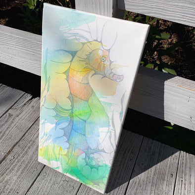 Sea Horse, a Mixed Medium Watercolor by Diane Luke | Outer Banks Artisans