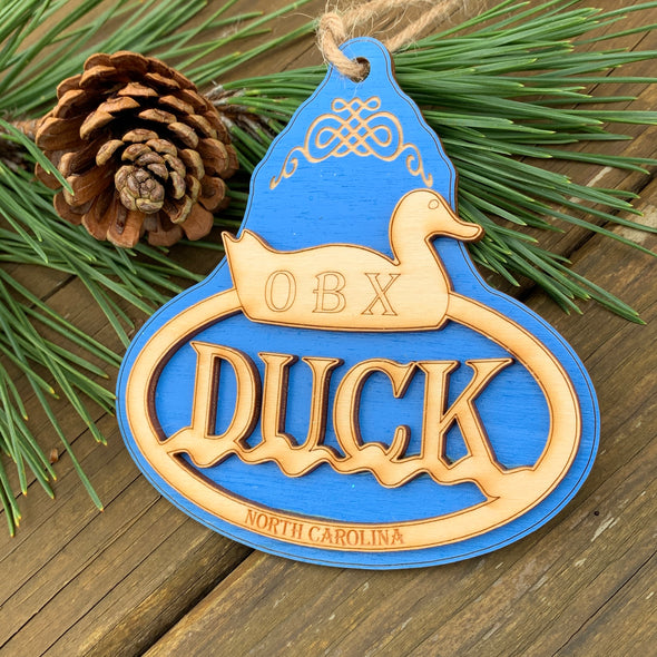 OUTER BANKS WOODEN ORNAMENT | DUCK NC