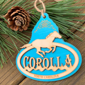 OUTER BANKS WOODEN ORNAMENT | COROLLA PONY