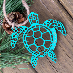 SEA TURTLE WOODEN CHRISTMAS ORNAMENT