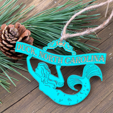 MERMAID WOODEN CHRISTMAS ORNAMENT