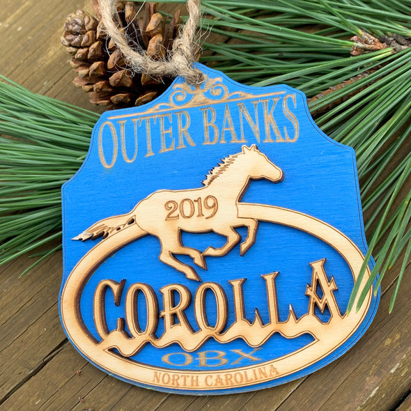2019 COLLECTIBLE OUTER BANKS WOODEN ORNAMENTS