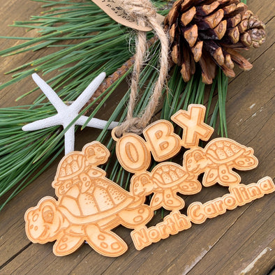 OBX SEA TURTLE FAMILY CHRISTMAS ORNAMENT
