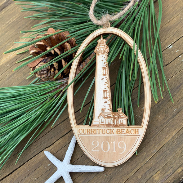 2019 COLLECTIBLE OUTER BANKS WOODEN ORNAMENTS | LIGHTHOUSE