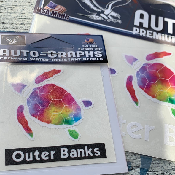 RAINBOW SEA TURTLE DECAL by AUTO-GRAPHS