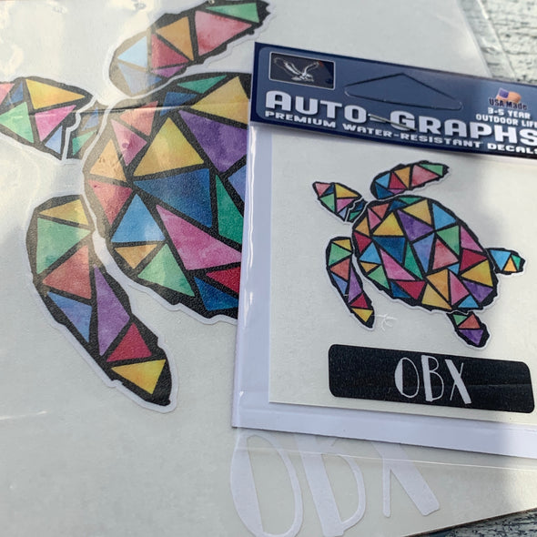 MOSAIC SEA TURTLE DECAL by AUTO-GRAPHS
