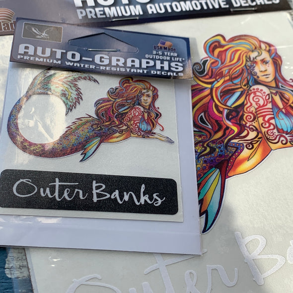 OUTER BANKS MERMAID DECAL by AUTO-GRAPHS