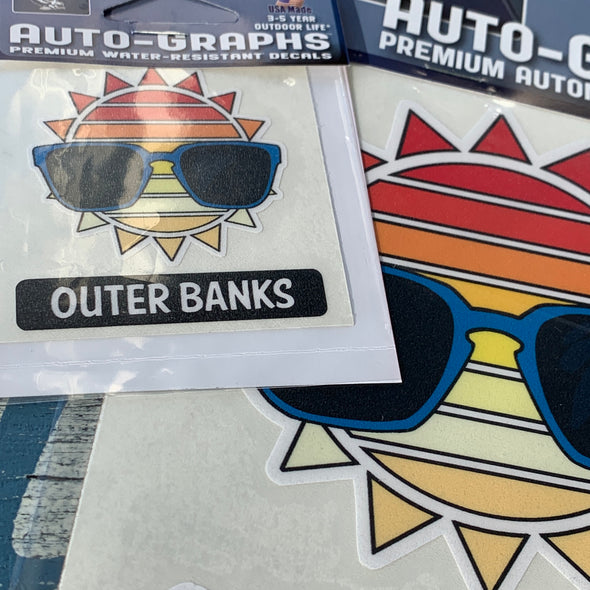 OUTER BANKS SUNSHINE DECAL by AUTO-GRAPHS