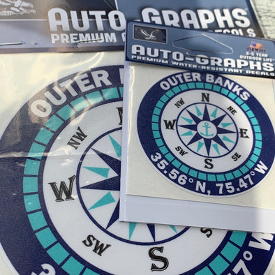 OUTER BANKS COMPASS DECAL by AUTO-GRAPHS