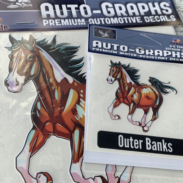 OUTER BANKS WILD HORSES DECAL by AUTO-GRAPHS