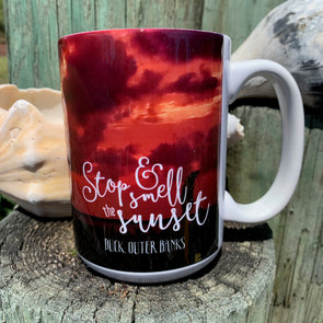 STOP & SMELL THE SUNSET COFFEE MUG | Outer Banks Gifts