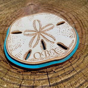SAND DOLLAR WOODEN MAGNET | Outer Banks Gifts