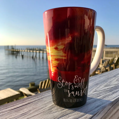STOP & SMELL THE SUNSET LATTE CUP