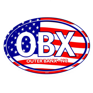 THE ICONIC OBX STICKER AMERICAN FLAG