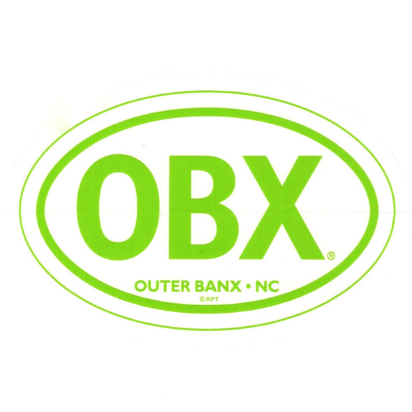 THE ICONIC OBX STICKER LIME GREEN