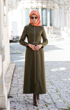 Load image into Gallery viewer, Long abaya over zip