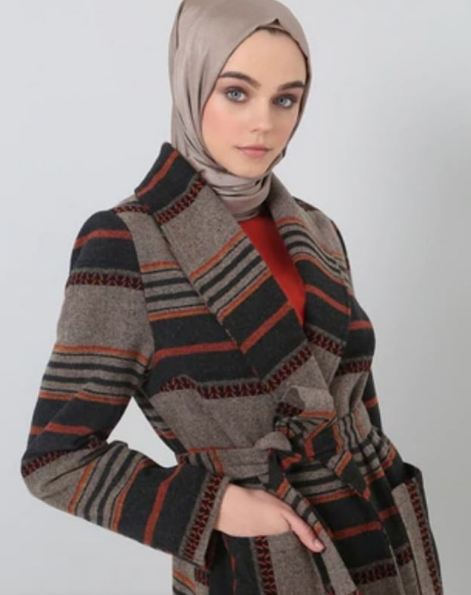 Gray - Ethnic - Fully Lined - Shawl Collar - Coat