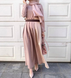 Beige - Crew neck - Unlined - Spring Dresses