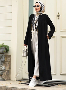 Neways  Black - Unlined - Crew neck - Abaya