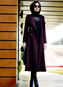 Wool winter coat - Belinay Coat - Maroon