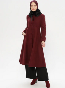 Fully Lined - Point Collar - Wool Blend Coat