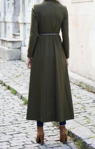 Manteau long/ kaki / Veste printemps/ Abaya turque / Abaya casual