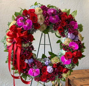 Sympathy Wreath Multicolored