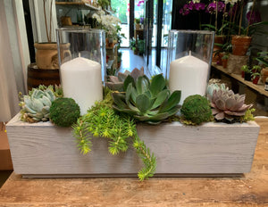 Succulent Planter with Candles