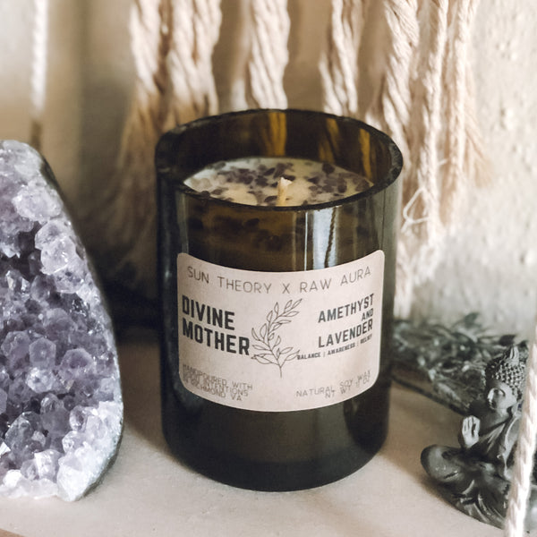 Divine Mother Crystal Candle