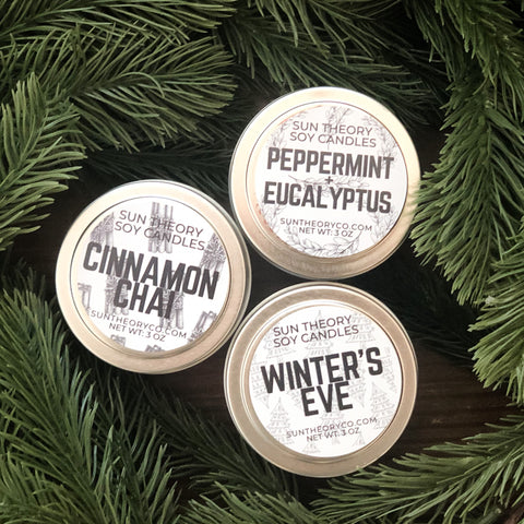 Winter Tin Candles (Seasonal)