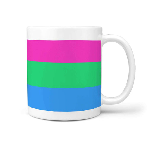 360 White Mug - Polysexual Pride - Coffee Mug
