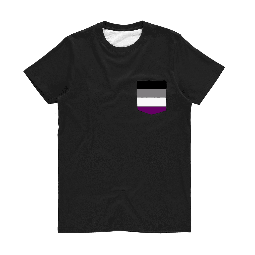 PrideAllYear.com|Ace Pride ufeffClassic Sublimation Pocket T-Shirt