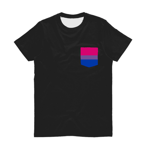 Apparel - Bi Pride Classic Sublimation Pocket T-Shirt