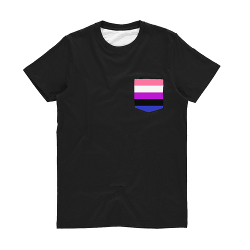 PrideAllYear.com|Gender Fluid ufeffClassic Pocket T-Shirt
