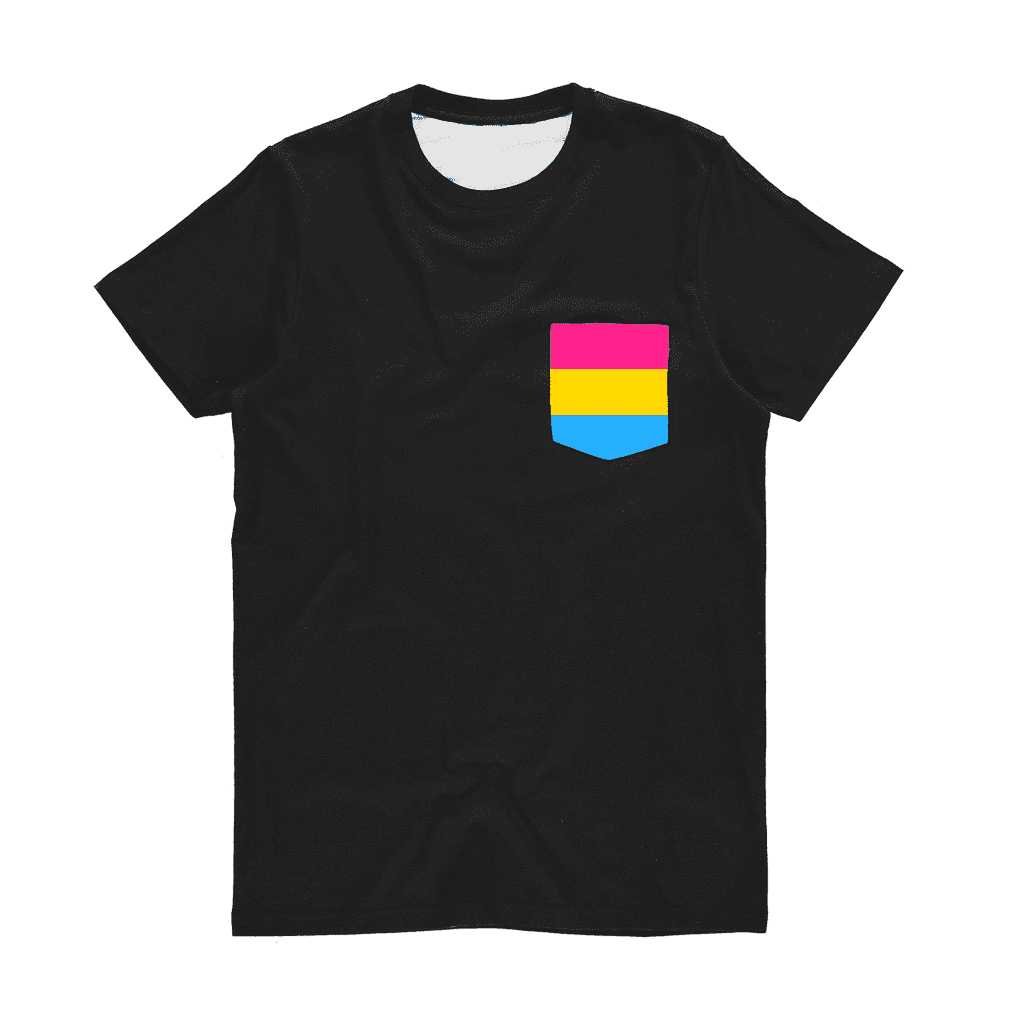 PrideAllYear.com|Pan Pride ufeffClassic Sublimation Pocket T-Shirt
