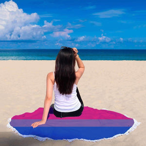 Beach Blanket - Bisexual Pride Beach Blanket