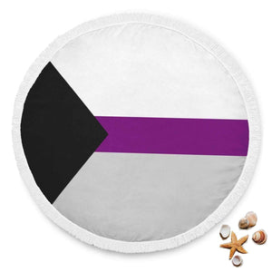 Beach Blanket - Demisexual Pride Beach Blanket