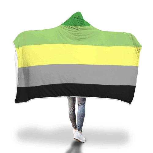 PrideAllYear.com|Aromantic Hooded Blanket