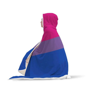 Hooded Blanket - Bisexual Flag Hooded Blanket
